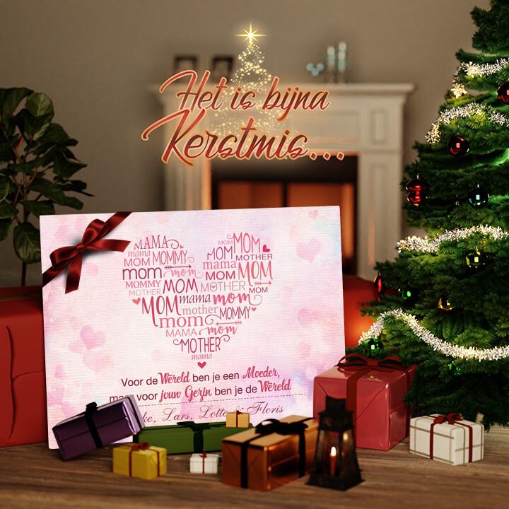 Canvas Cadeau Mama's familie