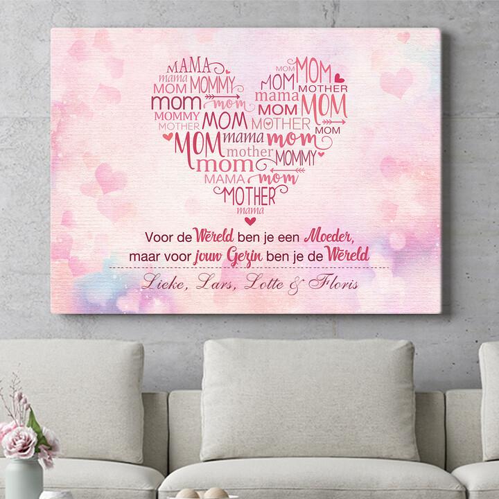 Personaliseerbaar cadeau Mama's familie