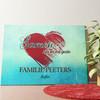 Gepersonaliseerde muurschildering Familie hart