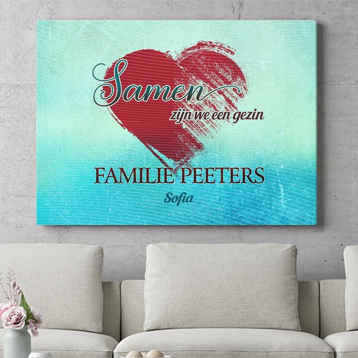 Personaliseerbaar cadeau Familie hart