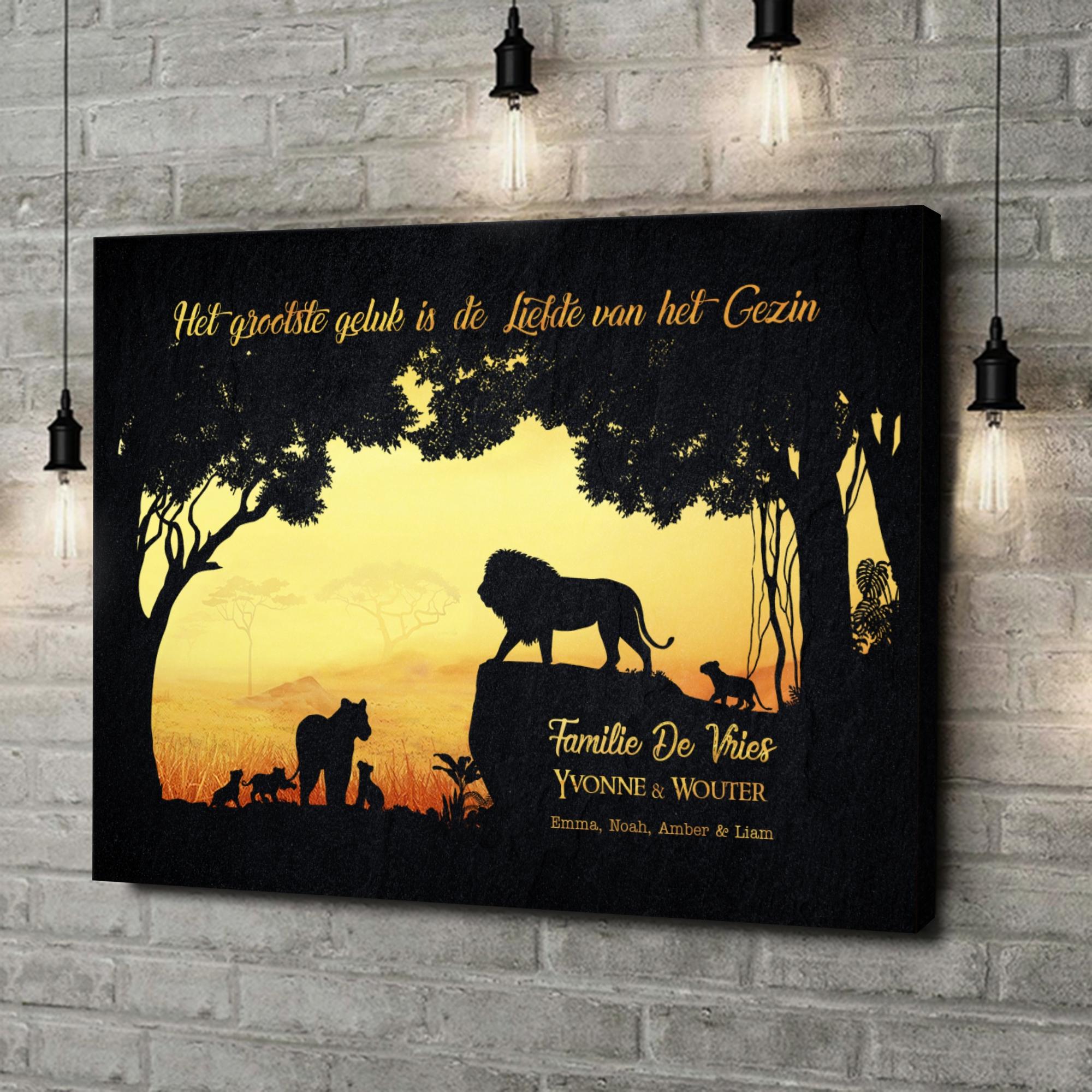Gepersonaliseerde canvas print Koningen van de jungle