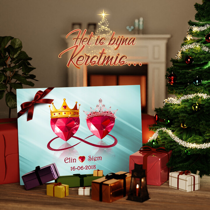 Canvas Cadeau Koninklijke Liefde