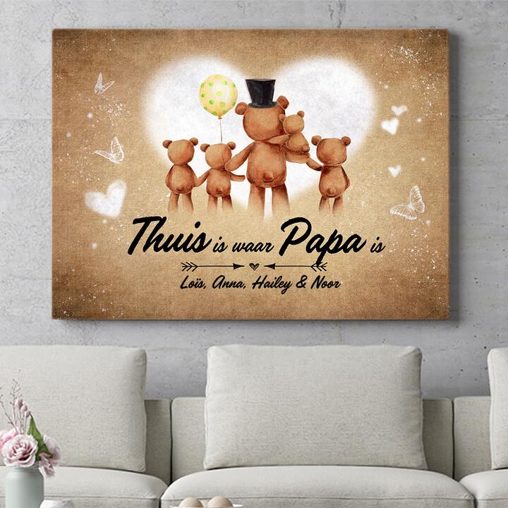 Personaliseerbaar cadeau Teddyberen vader