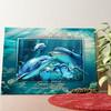 Gepersonaliseerde muurschildering Familie dolfijn