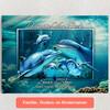 Gepersonaliseerde Canvas Familie dolfijn