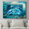 Personaliseerbaar cadeau Familie dolfijn