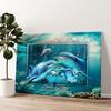 Familie dolfijn Gepersonaliseerde muurschildering
