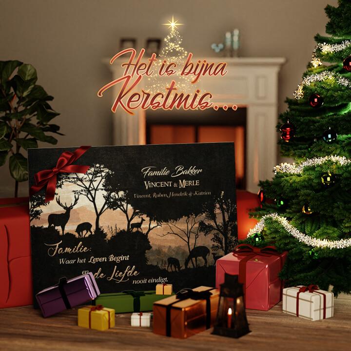 Canvas Cadeau Geborgenheid van het gezin