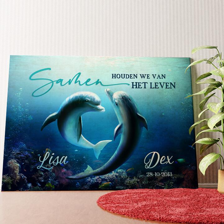 Gepersonaliseerde muurschildering Oceaan van liefde