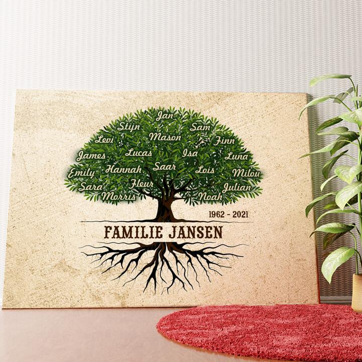 Gepersonaliseerde muurschildering Familiewortels
