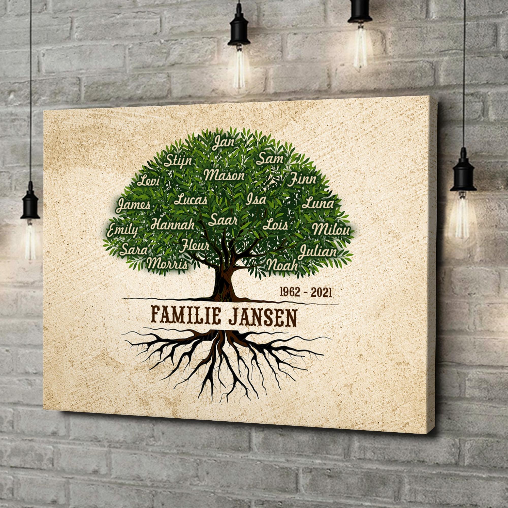Gepersonaliseerde canvas print Familiewortels
