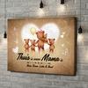 Gepersonaliseerde canvas print Teddyberen Moeder