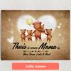 Gepersonaliseerde Canvas Teddyberen Moeder