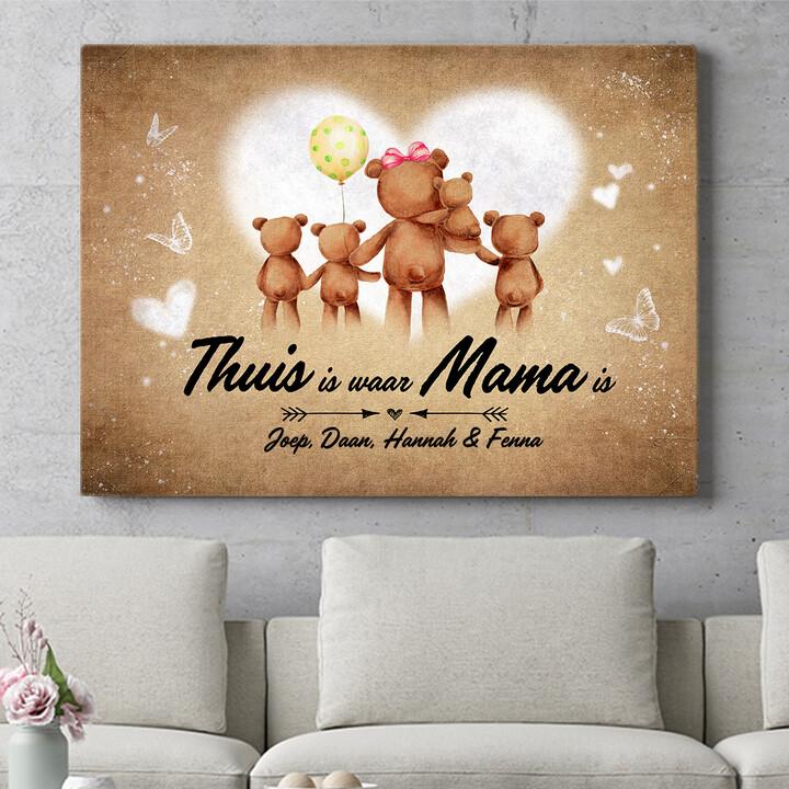 Personaliseerbaar cadeau Teddyberen Moeder