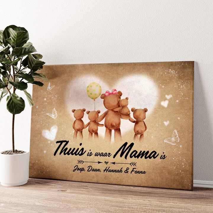 Teddyberen Moeder Gepersonaliseerde muurschildering