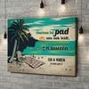 Gepersonaliseerde canvas print Picknick op het strand