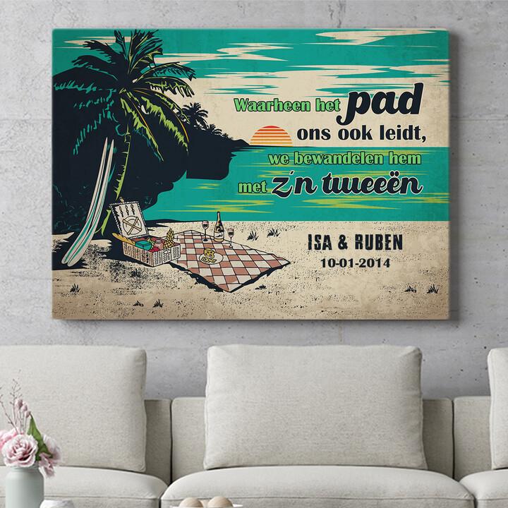 Personaliseerbaar cadeau Picknick op het strand
