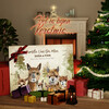Canvas Cadeau Alpaca Familie