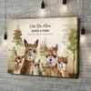 Gepersonaliseerde canvas print Alpaca Familie