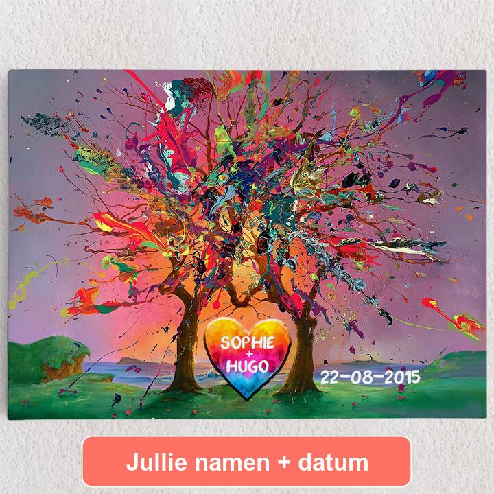 Gepersonaliseerde Canvas Kleurrijke liefde
