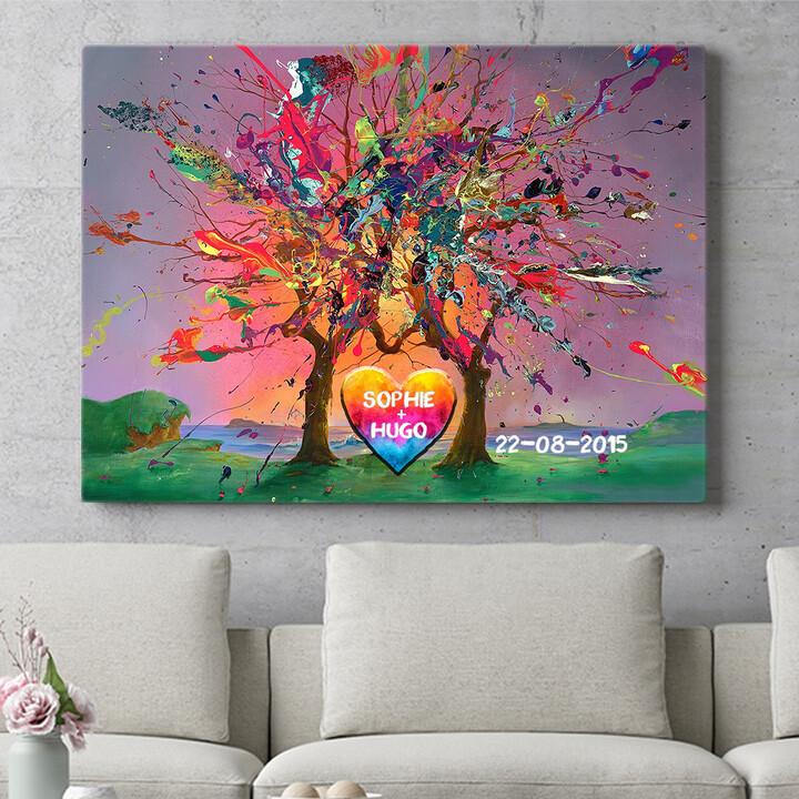 Personaliseerbaar cadeau Kleurrijke liefde