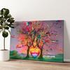 Kleurrijke liefde Gepersonaliseerde muurschildering