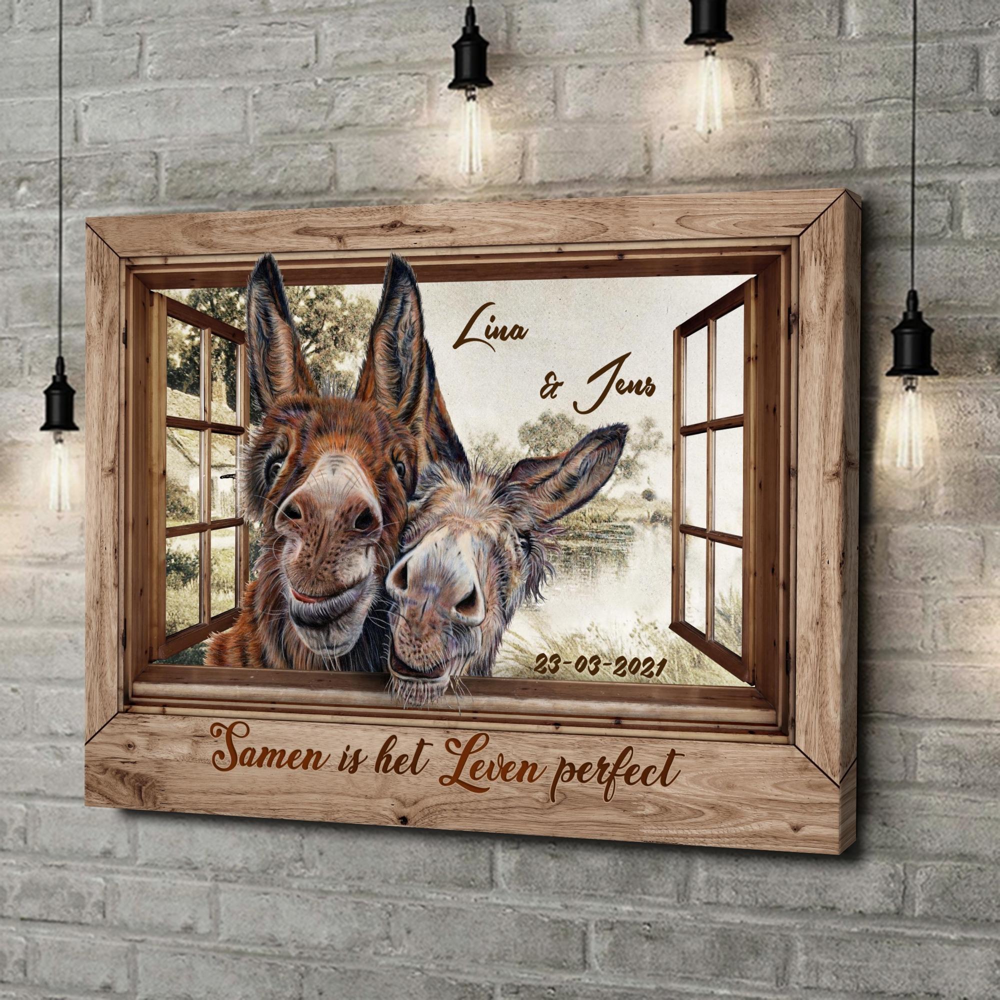 Gepersonaliseerde canvas print Liefde met Humor