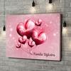 Gepersonaliseerde canvas print Gezin met een hart