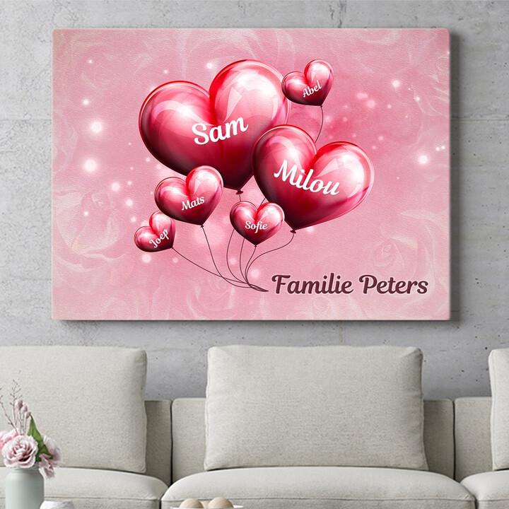 Personaliseerbaar cadeau Gezin met een hart