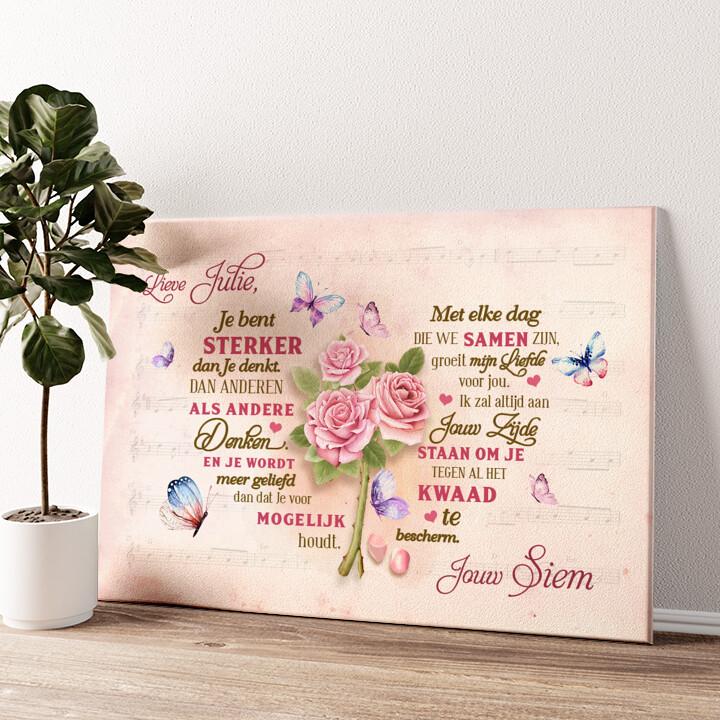 Romantisch hart Gepersonaliseerde muurschildering