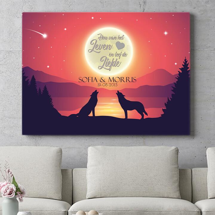Personaliseerbaar cadeau Liefde in het maanlicht