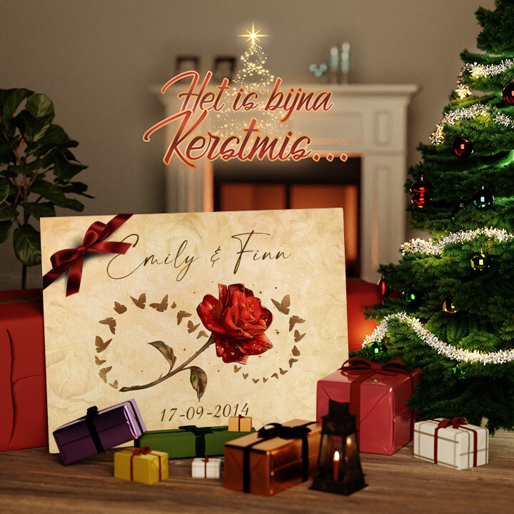 Canvas Cadeau Jij en Ik voor Altijd