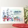 Gepersonaliseerde muurschildering Sneeuwpop familie