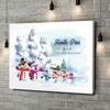 Gepersonaliseerde canvas print Sneeuwpop familie