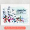 Gepersonaliseerde Canvas Sneeuwpop familie