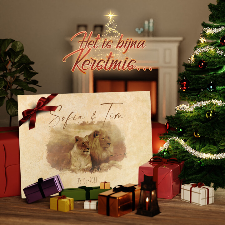 Canvas Cadeau Samen voor Altijd