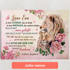 Gepersonaliseerde Canvas Kracht, Moed & Liefde
