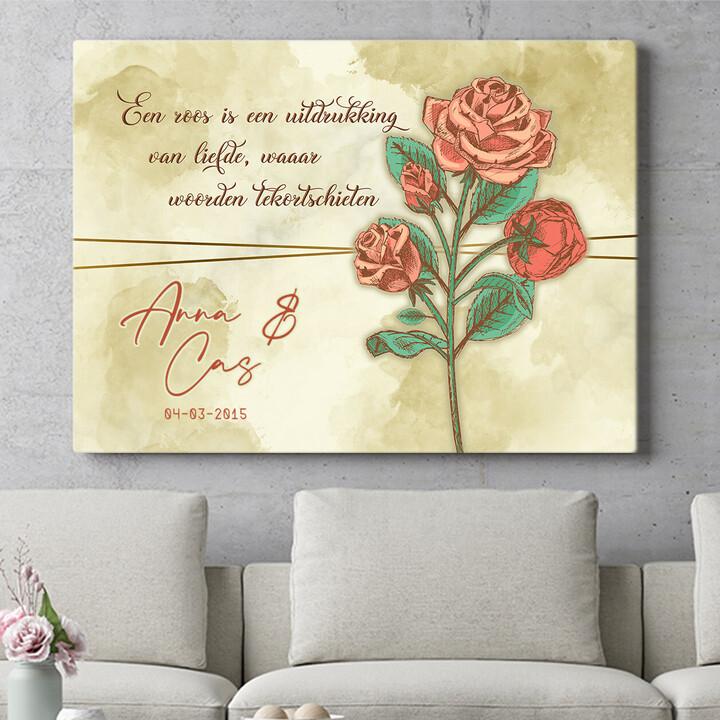 Personaliseerbaar cadeau Liefdesroos