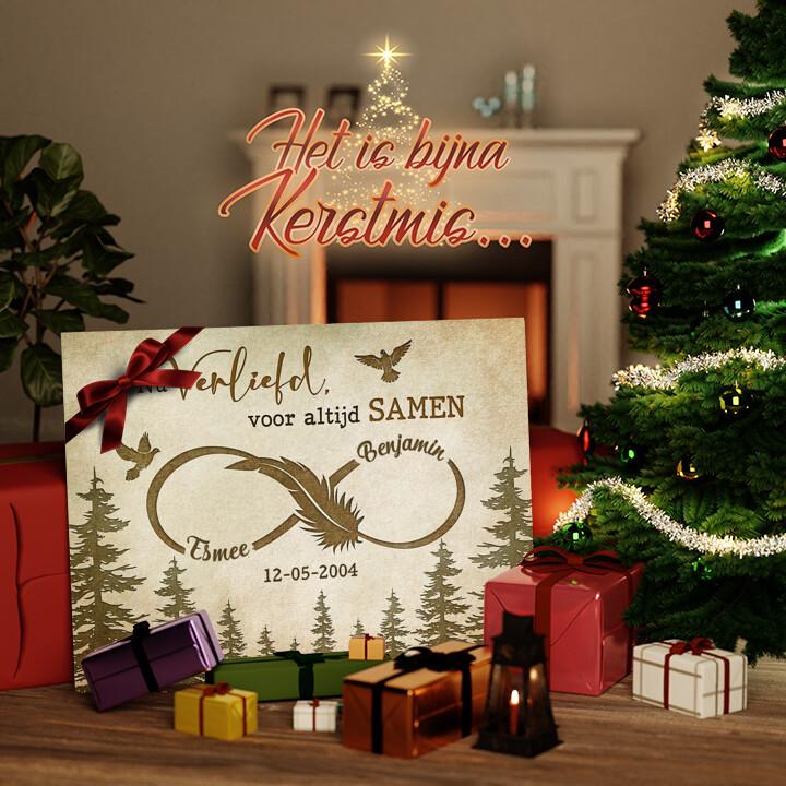 Canvas Cadeau Tortelduifjes