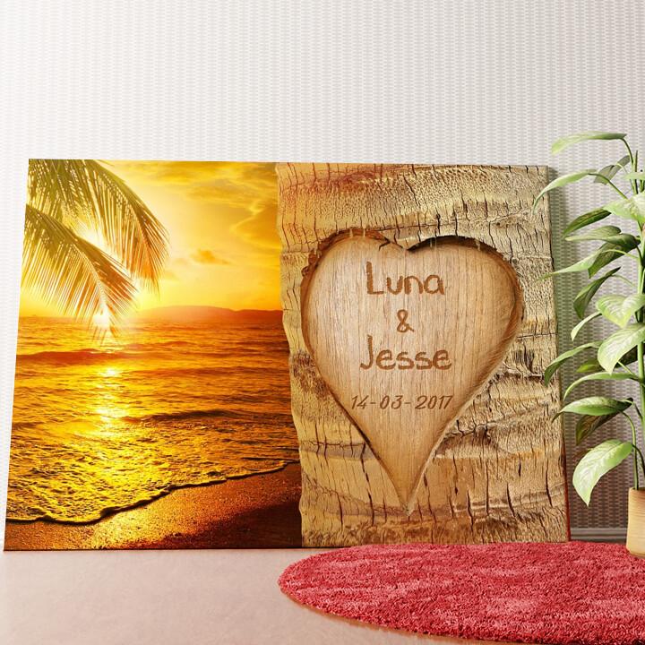 Gepersonaliseerde muurschildering Eeuwige Liefde