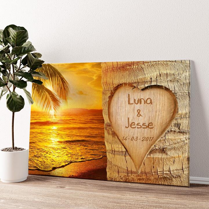 Eeuwige Liefde Gepersonaliseerde muurschildering