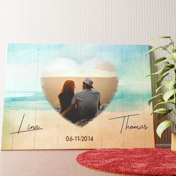 Gepersonaliseerde muurschildering Strand van Liefde