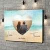 Gepersonaliseerde canvas print Strand van Liefde