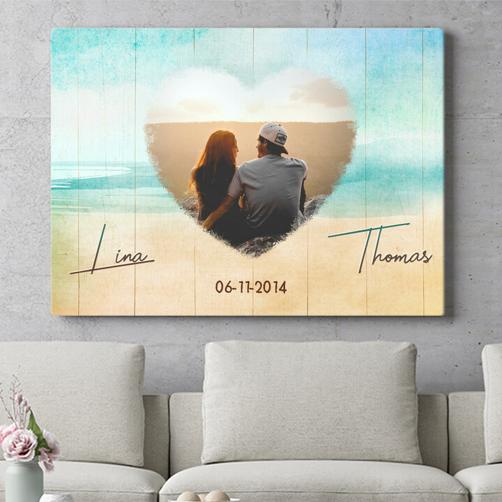 Personaliseerbaar cadeau Strand van Liefde