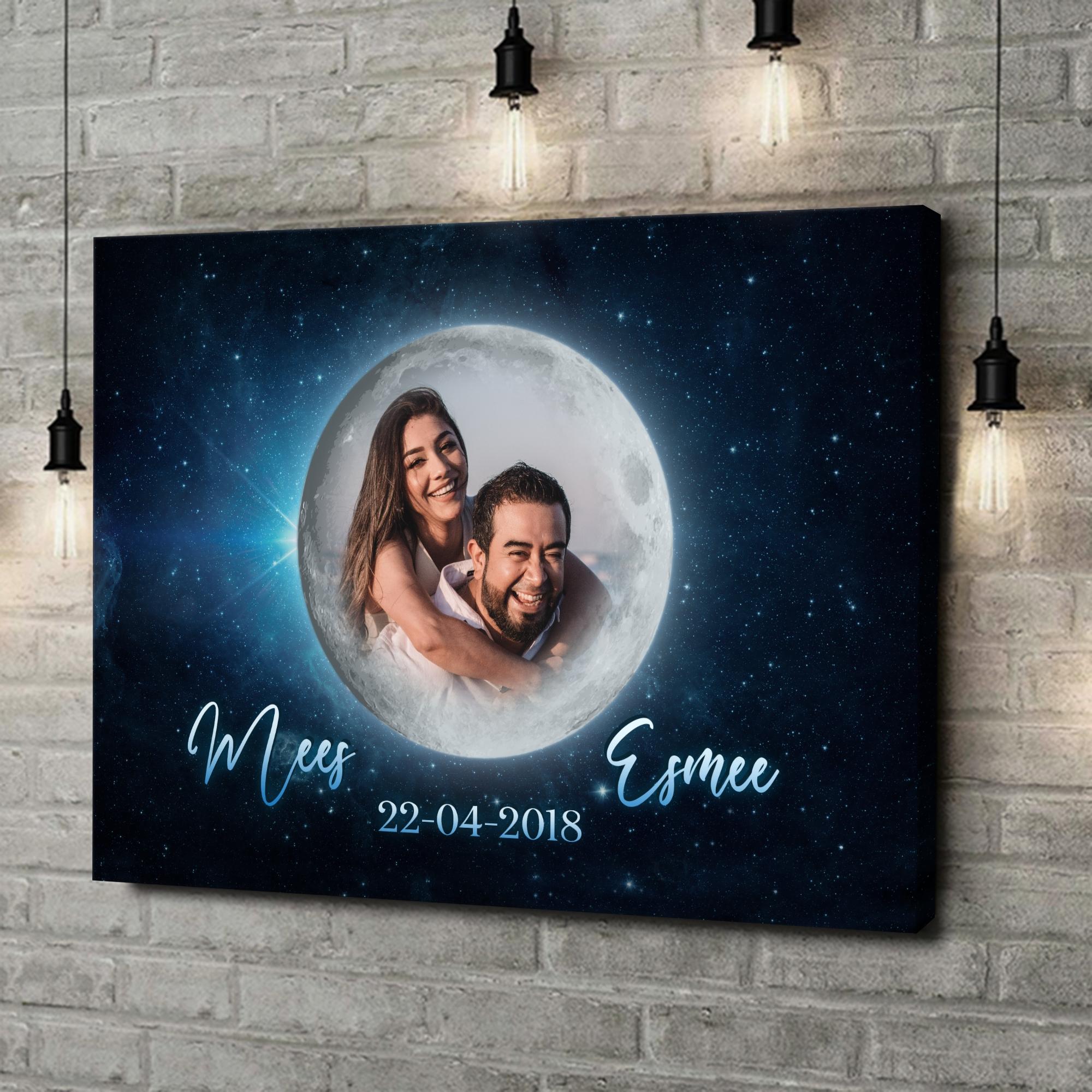 Gepersonaliseerde canvas print Maanlicht