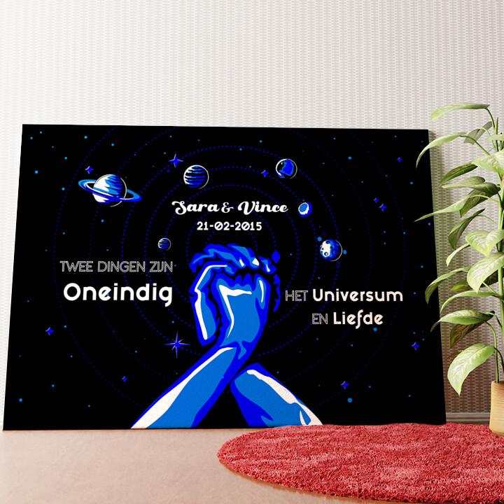 Gepersonaliseerde muurschildering Ons Universum