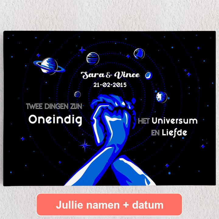 Gepersonaliseerde Canvas Ons Universum