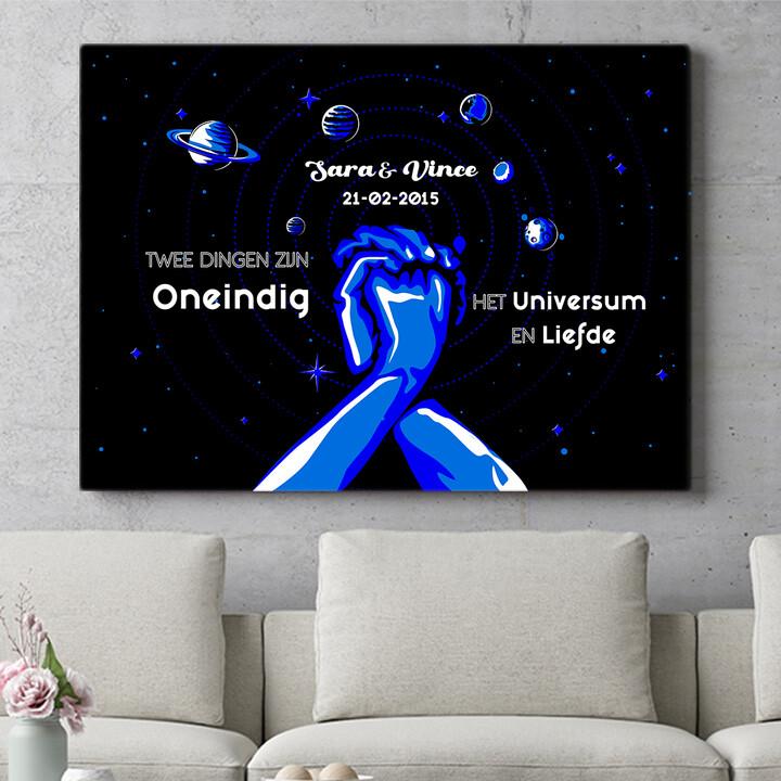 Personaliseerbaar cadeau Ons Universum