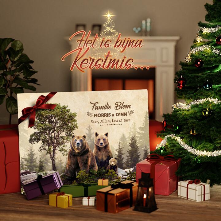 Canvas Cadeau Berenfamilie