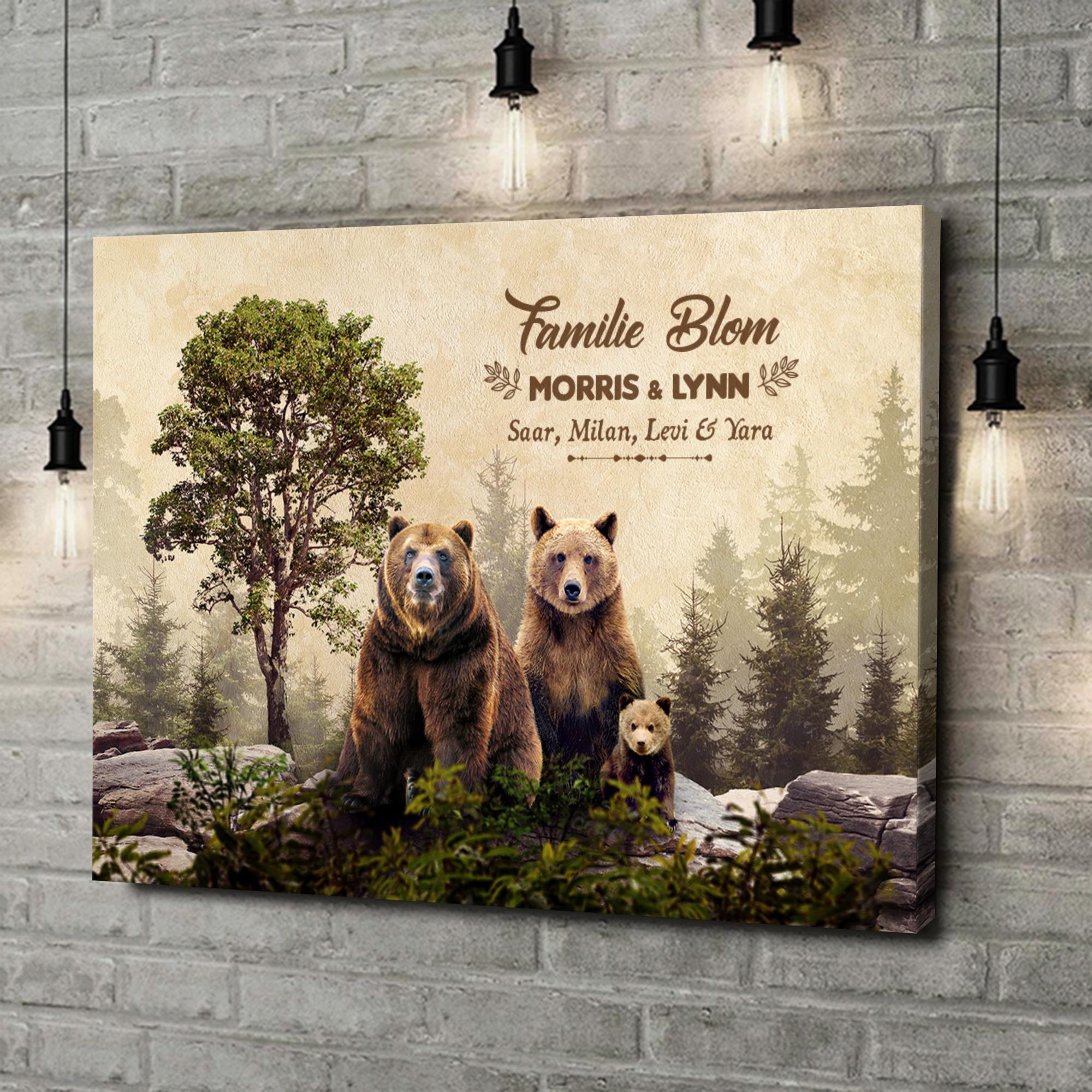 Gepersonaliseerde canvas print Berenfamilie
